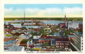Fairhaven Massachusetts~New Bedford Bridge~Cape Liquor Mart~Boyle Bros~1950 PC