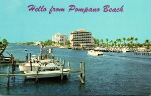 Florida Pompano Beach Apartment Buildings Along Intracoastal Waterway