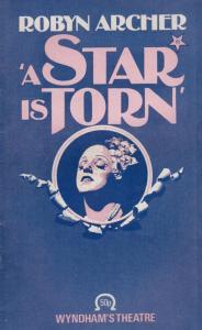 Robyn Archer A Star Is Born Musical Film Movie Wyndhams Theatre Programme