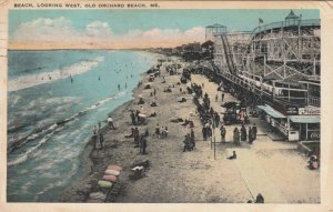 OLD ORCHARD BEACH , Maine , PU-1925 ; Beach Looking West