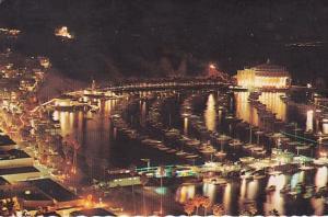 California Catalina Island Avalon Harbor At Night