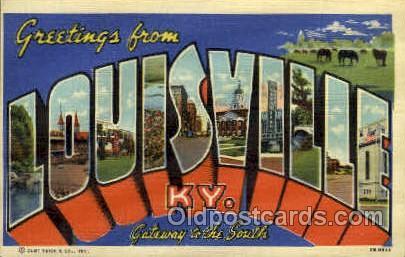 Louisville, KY, Kentucky, USA Large Letter USA Town, Towns, Postcard Postcard...