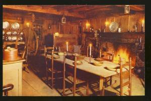 South Sudbury, Mass/MA Postcard,Wayside Inn Old Kitchen