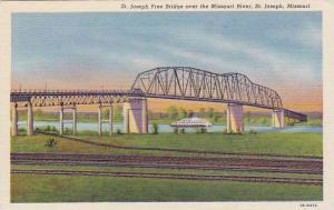 St. Joseph Free Bridge over the Missouri River, St. Joseph, Missouri, 30-40s