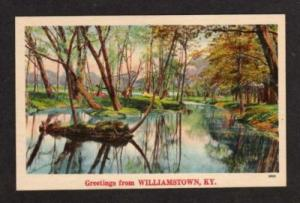 KY Greetings from WILLIAMSTOWN KENTUCKY Postcard Linen