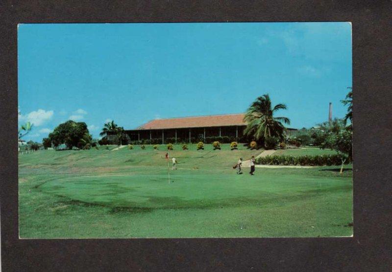 CUBA US Navy Naval Station Golf Course Golfing Guantanamo Bay Military Postcard
