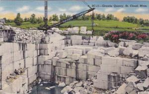 Minnesota Saint Cloud Granite Quarry 1945