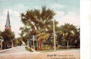 Maine Bangor  Davenport Park & St. Mary´s Catholic Church