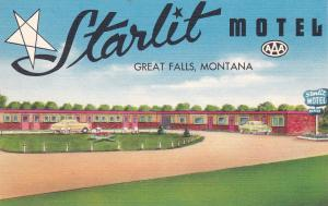 GREAT FALLS, Montana, 1930-1940´s; Starlit Motel, Highways 87 and 89