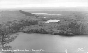 Pinedale Wyoming~Soda Lakes from Skyline Drive Bird's Eye View~1959 Sanborn RPPC