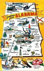 Alabama Greetings With Map