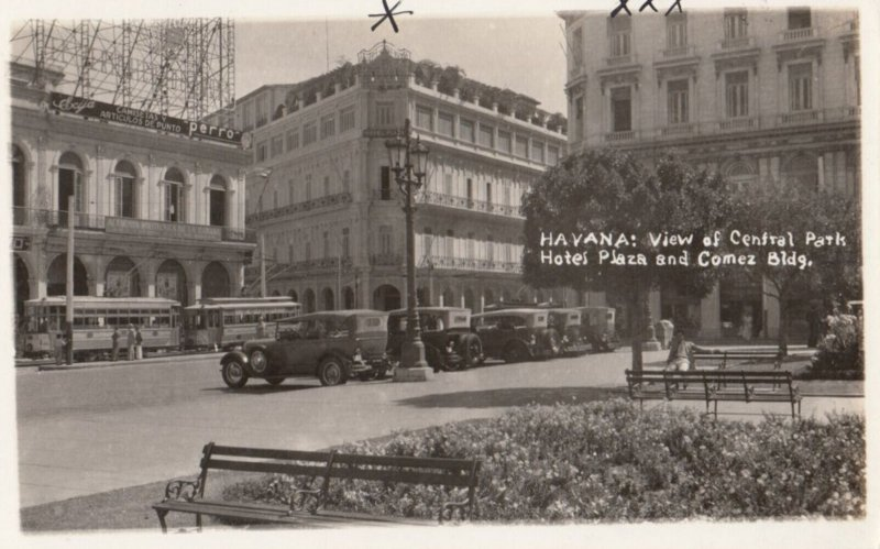RP: HAVANA , Cuba , 1939 ; Central Pak Hotel Plaza