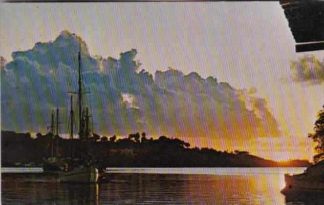 Saint Lucia Sunset In Castries Harbour