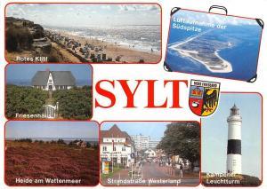 Sylt, Rotes Kliff Heide am Wattenmeer Kampener Leuchtturm Lighthouse Island