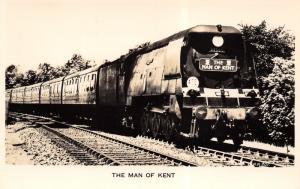 Broadstairs UK~Main of Kent Train~Railway Engine~Valentine Real Photo Postcard
