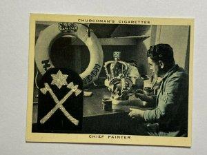 CIGARETTE CARD - CHURCHMAN NAVY AT WORK #44 CHEF PAINTER       (UU449)