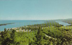 Michigan Copper Harbor & Lake Fanny Hoe Seen From Broakway Mountain Drive