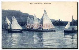 Postcard Old Boat Sailboat Lake Bourget Sailboats