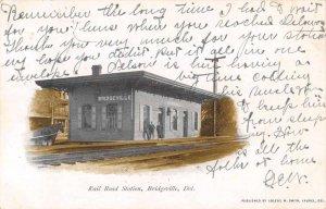 Bridgeville Delaware Railroad Station Vintage Postcard AA5568