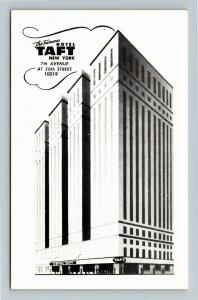 New York City NY-New York, Hotel Taft, Chrome Postcard