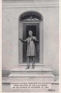 GETTYSBURG, Pennsylvania, 1930-1940's; Abraham Lincoln Addressed College Boys...