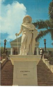 Nassau in the Bahamas, Columbus Statue, 1965 used Postcard