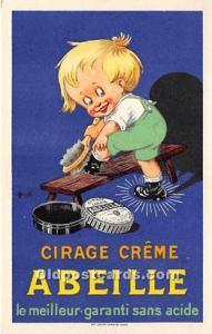 Advertising Postcard - Old Vintage Antique  Cirage Crème Abeille