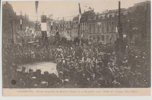 Strasbourg France 1918 WWI World War I Defile des Troopes Plaza Kleber Postcard