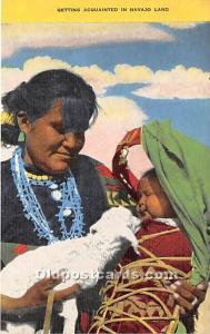 Getting Acquainted in Navajo Land Indian Unused