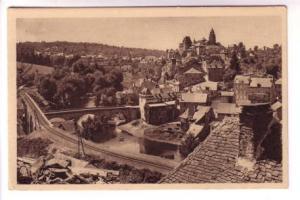 Sepia, Yvon, Town Bridges, Le Limousin Uzerche, France