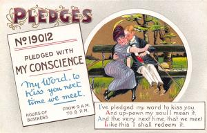 BB London Pledges~No 19012~My Conscience~Give My Word to Kiss You~Couple~1910