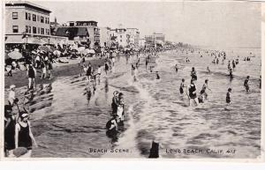 RP: LONG BEACH , California, 1910s-1920s ; Beach Scene