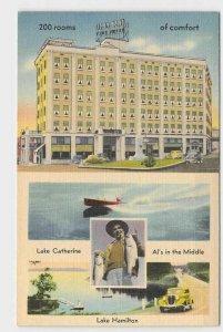 PPC POSTCARD ARKANSAS HOT SPRINGS NATIONAL PARK HOTEL COMO LAKE HAMILTON LAKE CA
