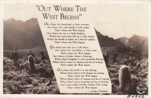 RP; Out Where West Begins, California, 1930-40s ; FRASHERS B4852