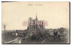 Old Postcard Amiens general view