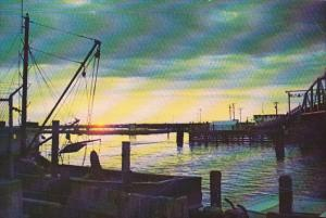 Sunset Over Chincoteague Channel Chincoteague Island Virginia