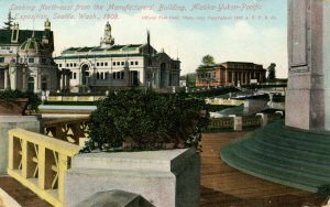 WA - Seattle. Alaska-Yukon-Pacific Exposition, 1909. Northeast from Manufactu...