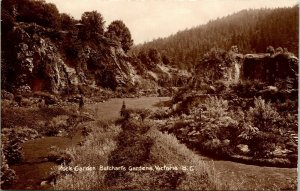 Vtg RPPC Victoria British Columbia BC Canada Butchart Giardini Rock Giardini Unp
