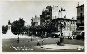 Real Photograph Postcard 'Valence Place Madier de Montijau'