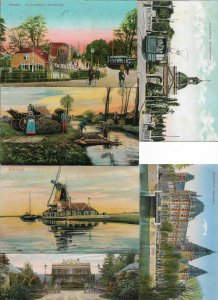 Beautiful Netherlands 17 Postcard Lot Rotterdam Amsterdam Dutch Views 01.12