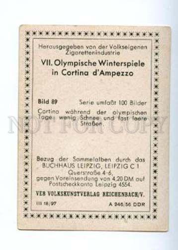 166959 Olympic Games CORTINA d'Ampezzo Garage CIGARETTE card