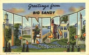 Greetings From Big Sandy, Tennessee, USA Large Letter Town Towns Postcard Pos...