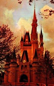 Florida Walt Disney World Cinderella Castle At Twilight
