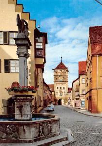 Wangen im Allgaeu Paradiesstrasse und Lindauer Tor Statue Gate Auto Cars