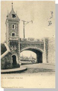 Early Porte Kent City Gate, Quebec City, Canada Postcard