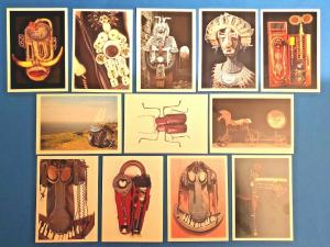 Set of 12 NEW Postcards Works By Sculptor and Assemblage Artist David Kemp