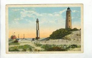 Old and New Lighthouse, Cape Henry, Virginia,PU-1923