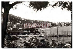 Old Postcard Cannes Alpes Maritimes View Casino and Port
