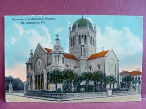 Old Postcard Memorial Presbyterian Church, St. Augustine, FL