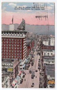 Los Angeles, Calif., Main St. looking North from Sixth showing Hotel Roslyn